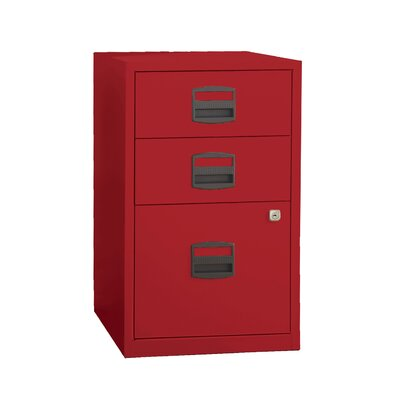 Bindertek 3 Drawer Steel Home or Office Filing Cabinet