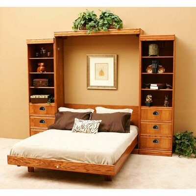 wallbeds contemporary oak murphy bed reviews wayfair. Black Bedroom Furniture Sets. Home Design Ideas