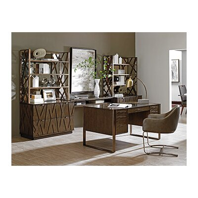 Sligh Cross Effect 4 Piece Standard Desk Office Suite