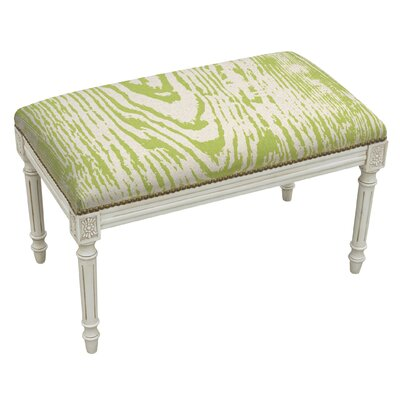 123 Creations Graphic Upholstered and Wood Bench Image