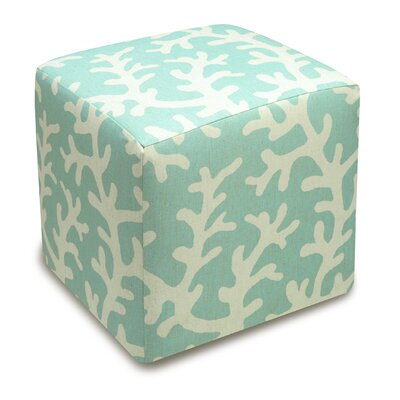 123 Creations Coral Upholstered Cube Ottoman