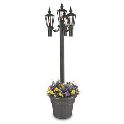 Patio living concepts islander 4 light 85 outdoor post for Outdoor lighting concepts