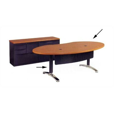 Virco Plateau Series Ellipse Desk Shell with Bi-Point Legs