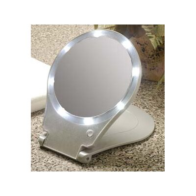 floxite 10x lighted travel and home mirror reviews wayfair. Black Bedroom Furniture Sets. Home Design Ideas