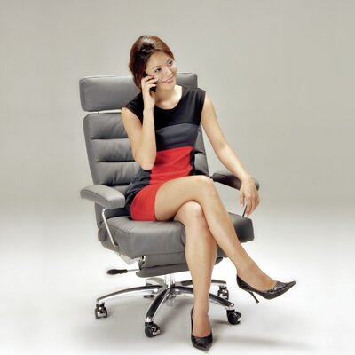 Lafer Adele Leather Desk Chair