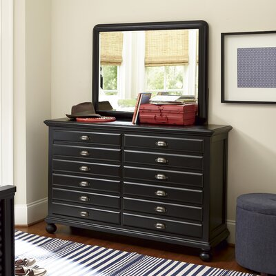 SmartStuff Furniture Map 12 Drawer Double Dresser
