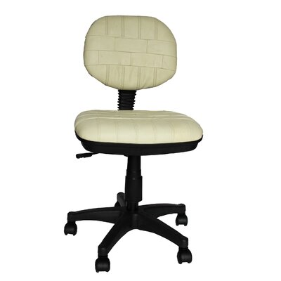 Elegant Home Fashions Secretary Cowhide Leather Chair