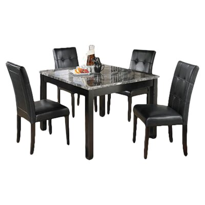 Signature Design by Ashley Maysville 5 Piece Dinette Set in Black & Grey