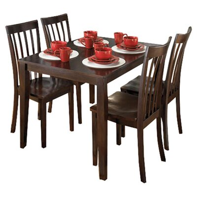 Signature Design by Ashley Hyland 5 Piece Dinette Set in Brown