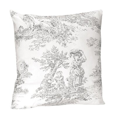 sweet jojo designs french toile cotton throw pillow. Black Bedroom Furniture Sets. Home Design Ideas