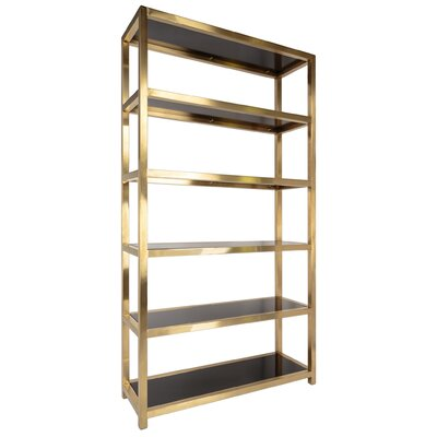 Mercer41 86 etagere bookcase for Furniture of america nara contemporary 6 shelf tiered open bookcase