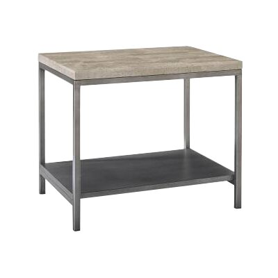 Homeware Sawyer Bunching End Table in Travertine