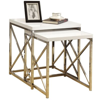 Curators Collection - Garrison Hullinger 2 Piece Monarch Nesting Table Set