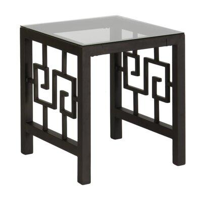In Style Furnishings Greek Key End Table