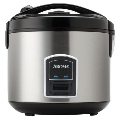 aroma professional 20 cup stainless steel rice cooker and food steamer reviews wayfair. Black Bedroom Furniture Sets. Home Design Ideas
