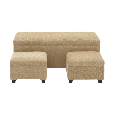Woodland Imports 3 Piece Upholstered Stor..