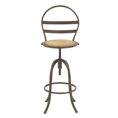 Woodland Imports Adjustable Height Bar Stool Image