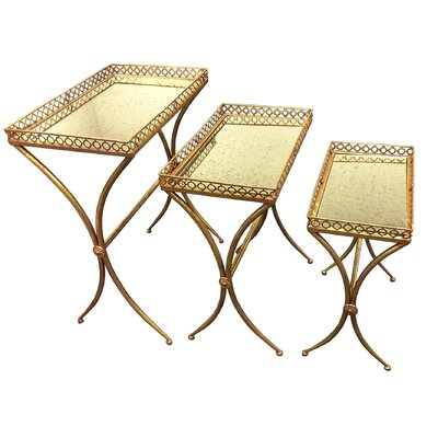 Woodland Imports 3 Piece Nesting Table Set