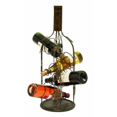 Woodland Imports 4 Bottle Tabletop Wine Rack