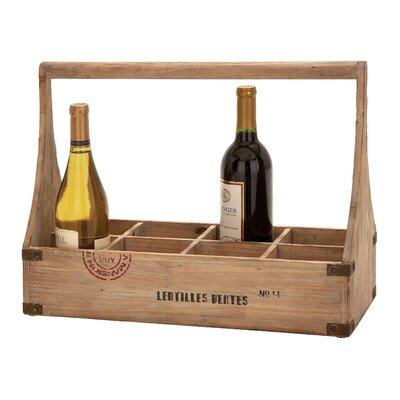 Woodland Imports 8 Bottle Tabletop Wine Rack