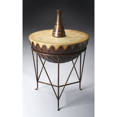 Butler Mountain Lodge Drum End Table