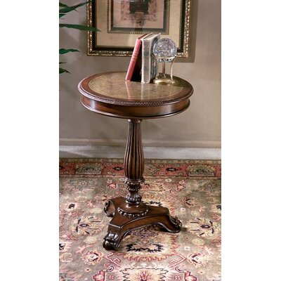Butler Heritage Etched Brass Round End Table