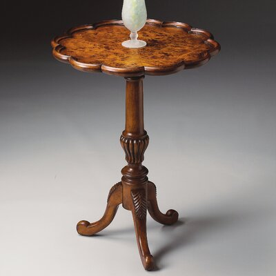 Butler Masterpiece Pedestal End Table in Olive Ash Burl