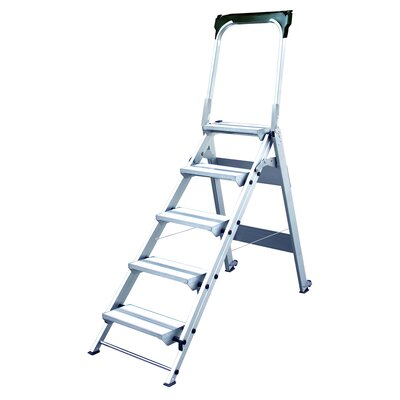 Xtend Climb 5 5 Ft Aluminum Folding Safety Step Ladder