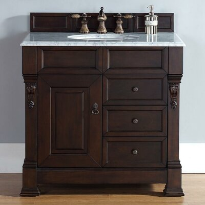 James martin furniture brookfield 36 single burnished - Wayfair furniture bathroom vanities ...
