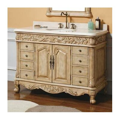James martin furniture parchment 48 single light wood - Wayfair furniture bathroom vanities ...