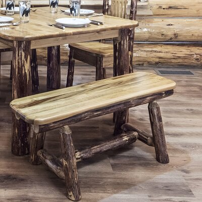 Montana Woodworks® Glacier Country Plank Bench