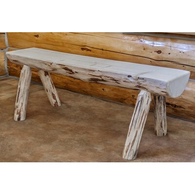 Montana Woodworks® Montana Half Log Bench