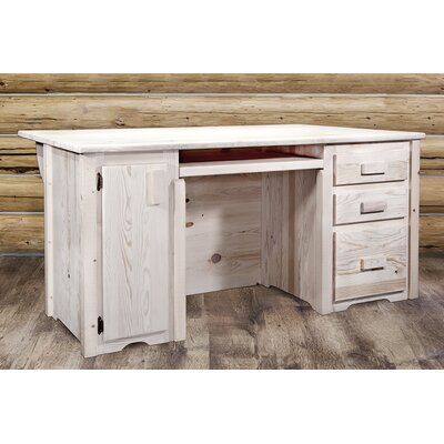 Montana Woodworks® Homestead Executive's Office Desk