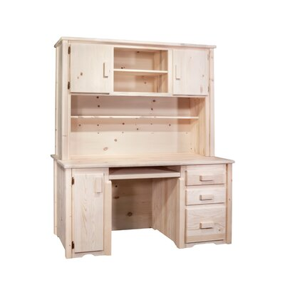 Montana Woodworks® Homestead Desk with Hutch