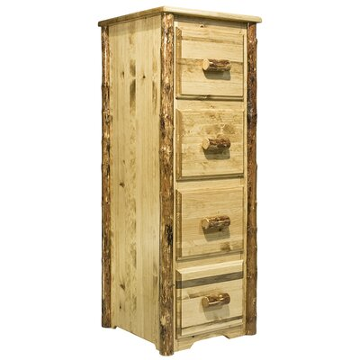 Montana Woodworks® Glacier Country 4-Drawer File Cabinet