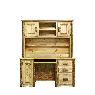 Montana Woodworks® Glacier Country Computer Desk with Hutch