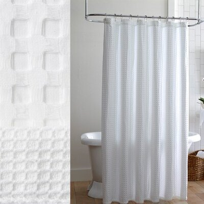 Peacock Alley Cotton Waffle Shower Curtain Reviews Wayfair