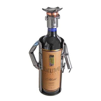 H & K SCULPTURES Policeman Caddy 1 Bottle Tabletop Wine Rack
