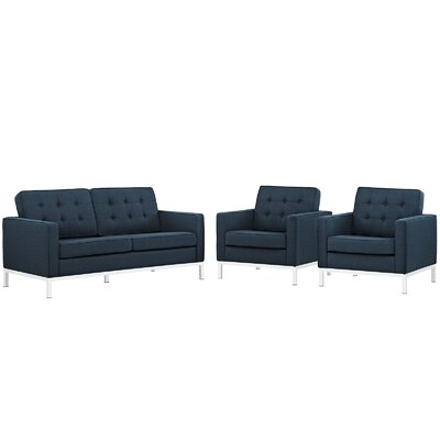 Modway Loft 3 Piece Living Room Set