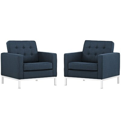 Modway Loft Fabric Armchair (Set of 2)
