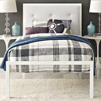 Modway Lottie Upholstered Vinyl Platform Bed