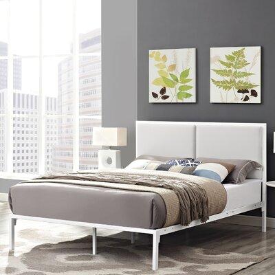 Modway Della Upholstered Vinyl Platform Bed