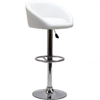 Modway Marshmallow Adjustable Height Swivel Bar Stool