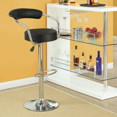 Modway Diner Adjustable Height Swivel Bar Stool (Set of 4)