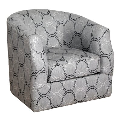 Bauhaus Linwood Curvature Charcoal Swivel Barrel Chair