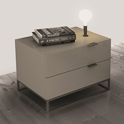 Casabianca Furniture Vizzione 2 Drawer Nightstand