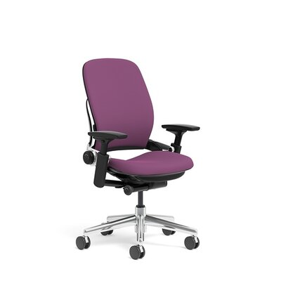 Steelcase Leap® Fabric Office Chair with Polished Aluminum Frame