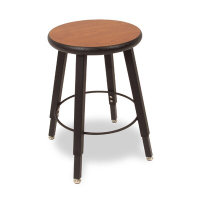 WB Manufacturing Adjustable Height Round Laminate Armor Edge Seat 4 Leg Stool
