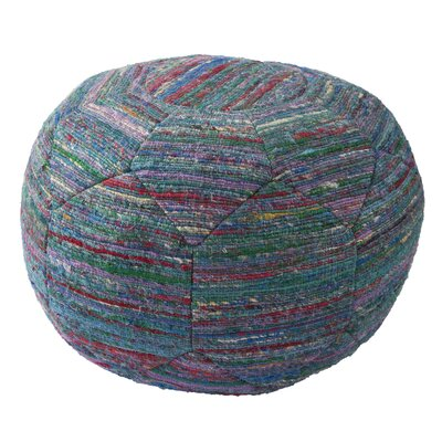 Jaipur Living National Geographic Solid Rayon and Polyester Pouf Ottoman