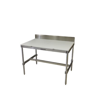 PVIFS Aluminum I Frame Prep Table with Back Splash and Poly Top